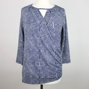 SKIES ARE BLUE Faux Wrap Maternity Top MEDIUM